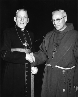 Very Rev. Bonaventure Koelzer with Richard Cardinal Cushing