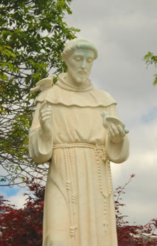Statue of St. Francis in Prayer Garden